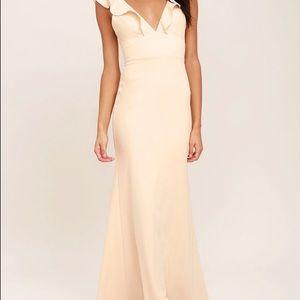 Lulu's pale blush maxi dress XS